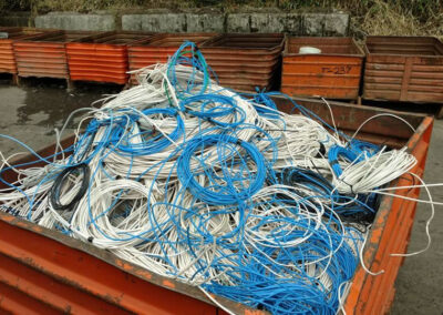 When we replace network cabling we remove and recycle the old network cabling.